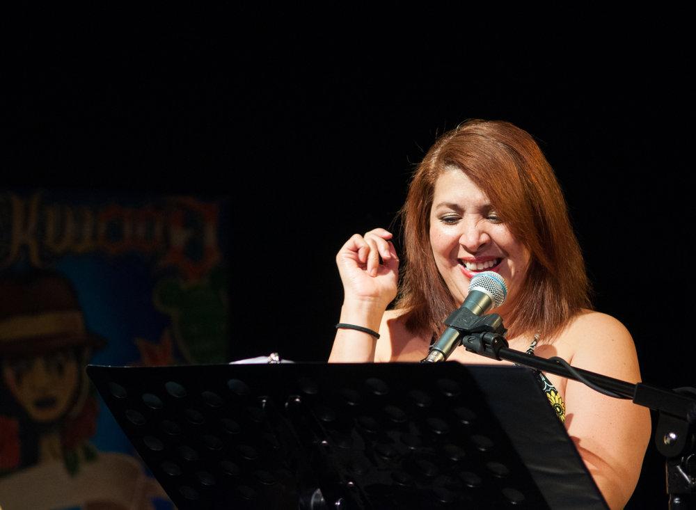 Nurys Herrera performing Anaberthas' story.
