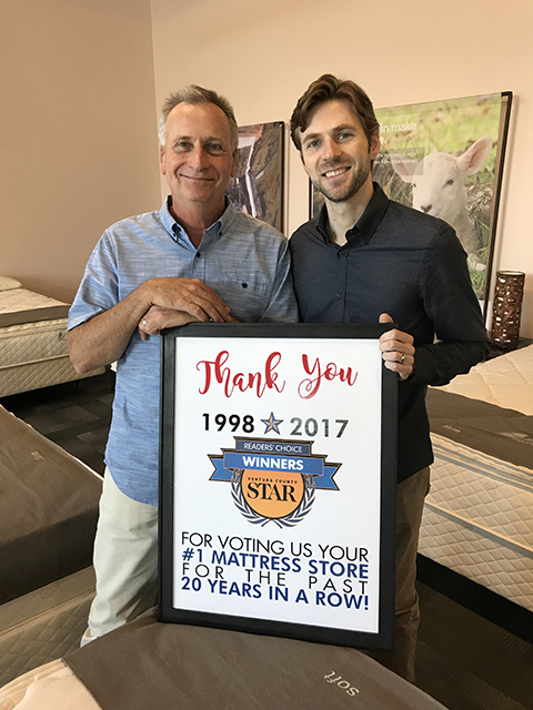 Fred Kunke & His Son Jonathan Celebrate Being Voted #1 Mattress Store For 20 Years in a Row