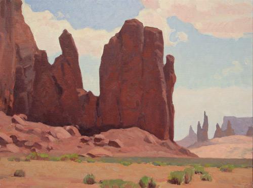 "Glenn Dean, ""Monoliths,"" oil, 30 x 40 in. Maxwell Alexander Gallery"