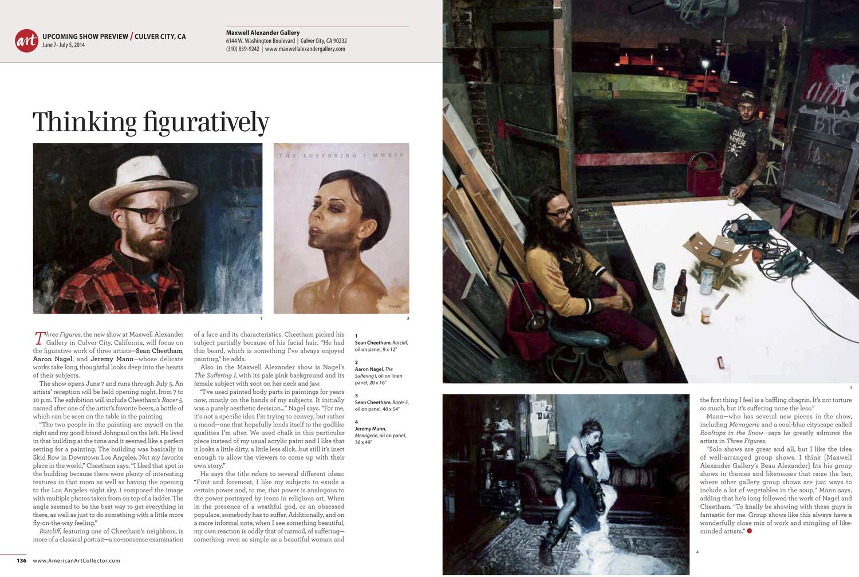 "a2d7e415 American Art Collector Magazine previews ""Three Figures"" June 2014"