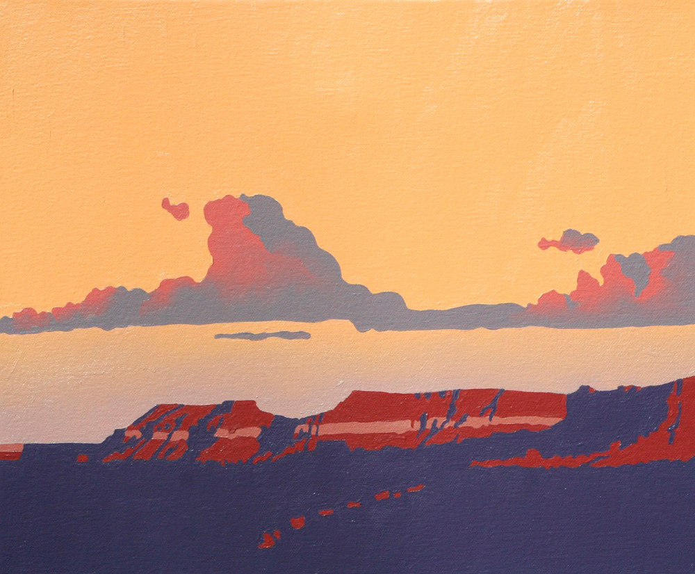 "Billy Schenck ""Mesa Cloud Study"" 10″x12″ Oil"