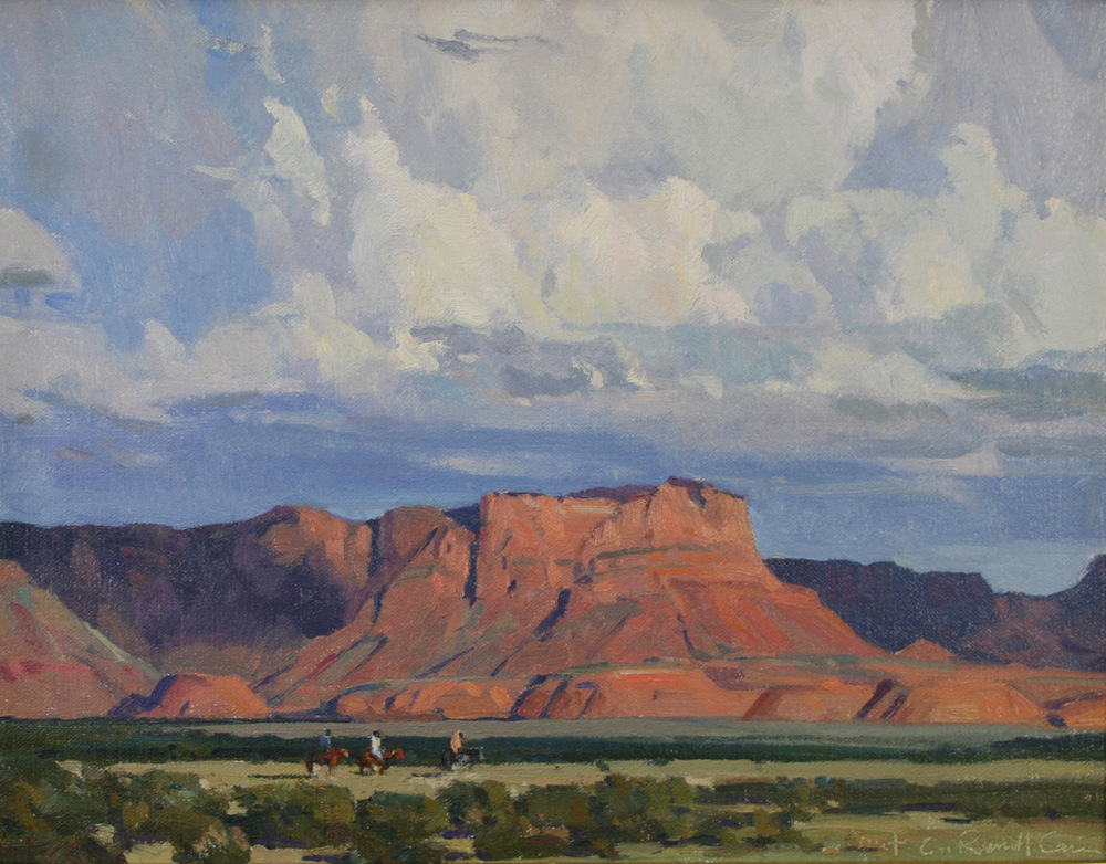 "(SOLD) G. Russell Case ""Mesa Light"" 11″x14″ Oil"