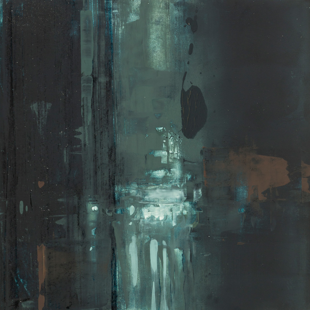 "(SOLD) Jeremy Mann ""Cityscape Composed Form Study #11″ 6″x6"" Oil"