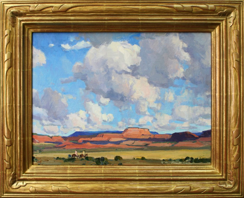 "G. Russell Case ""Riders at Long Mesa"" 12″x16″ Oil"