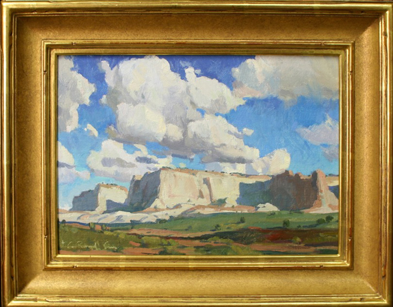 "G. Russell Case ""The White Mesa""13.25″x9.25"" Oil"
