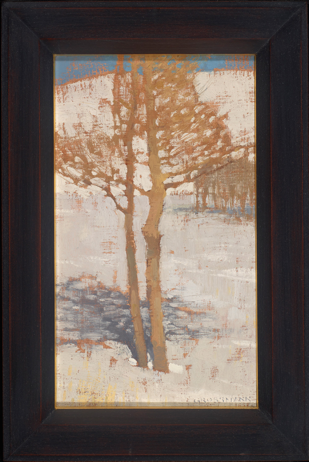 "David Grossmann ""Winter Trees Near La Veta Pass"" Oil"