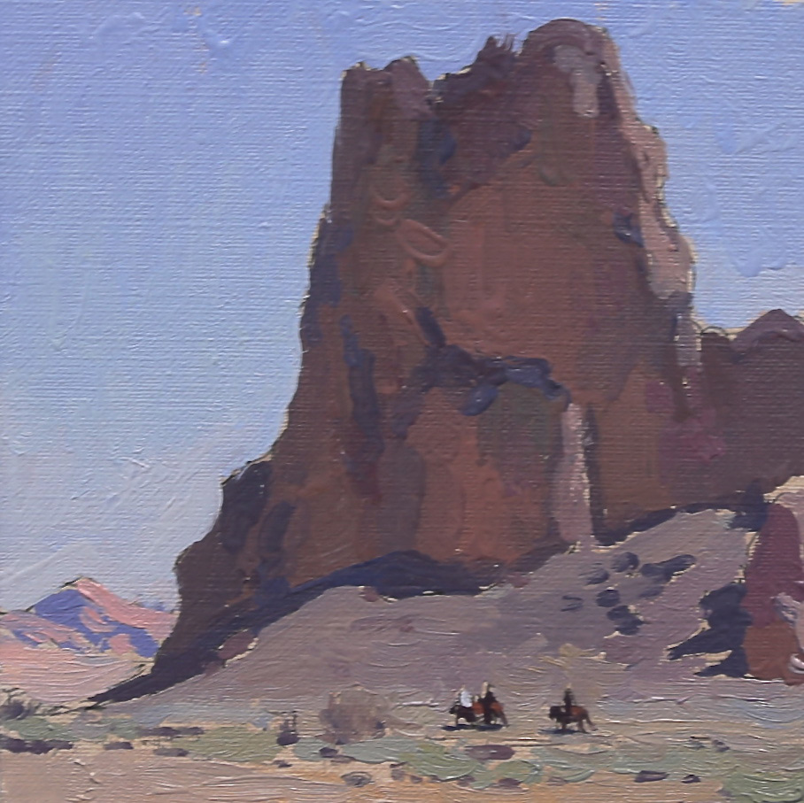 "(SOLD) Glenn Dean ""Desert Monument"" Oil"