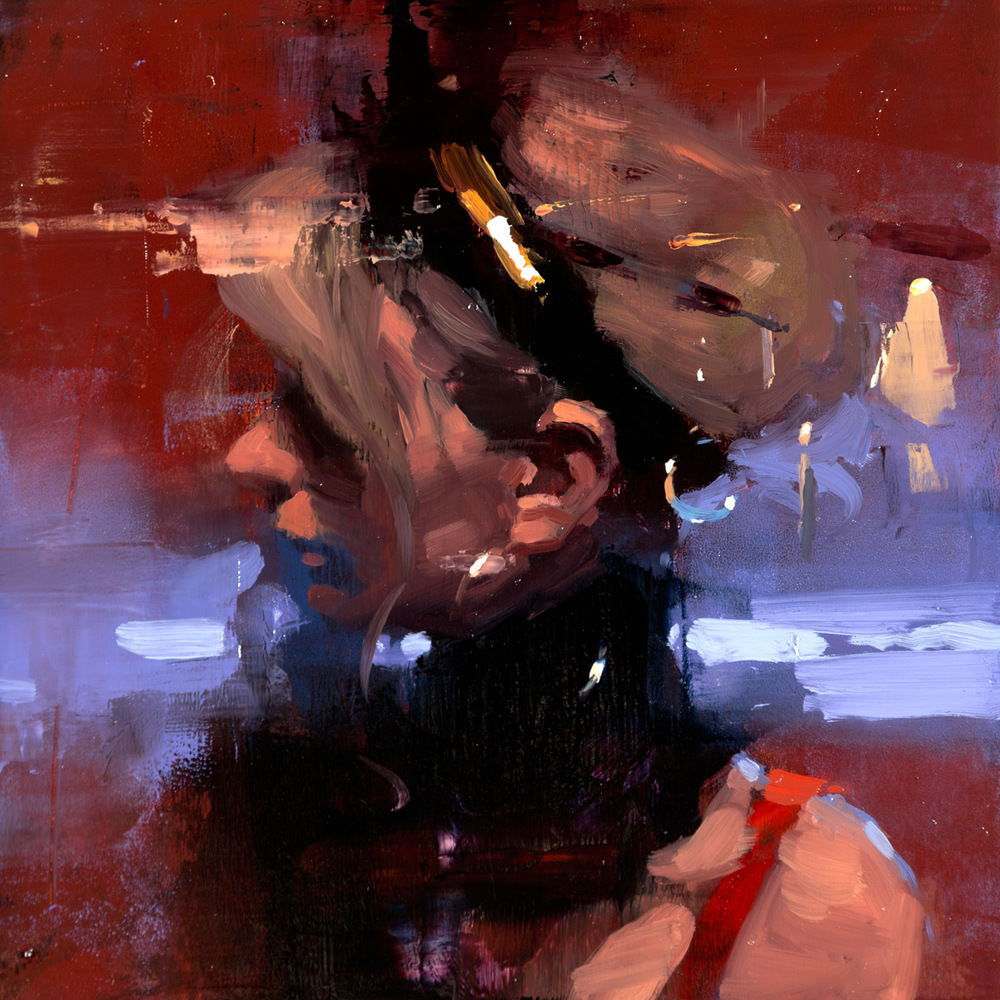 "(SOLD) Jeremy Mann ""Portrait Study #17"" Oil"