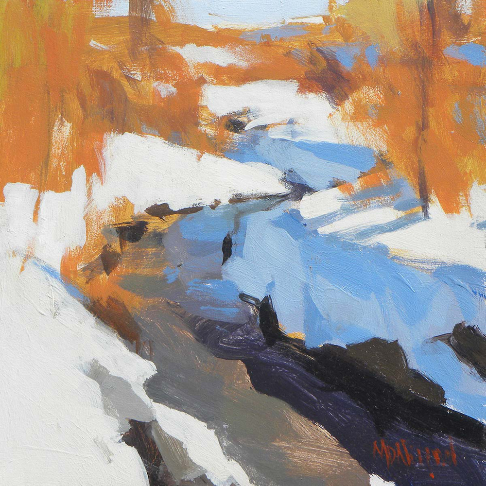 "Mark D. Nelson ""Cherry Creek in Snow"" Acrylic"