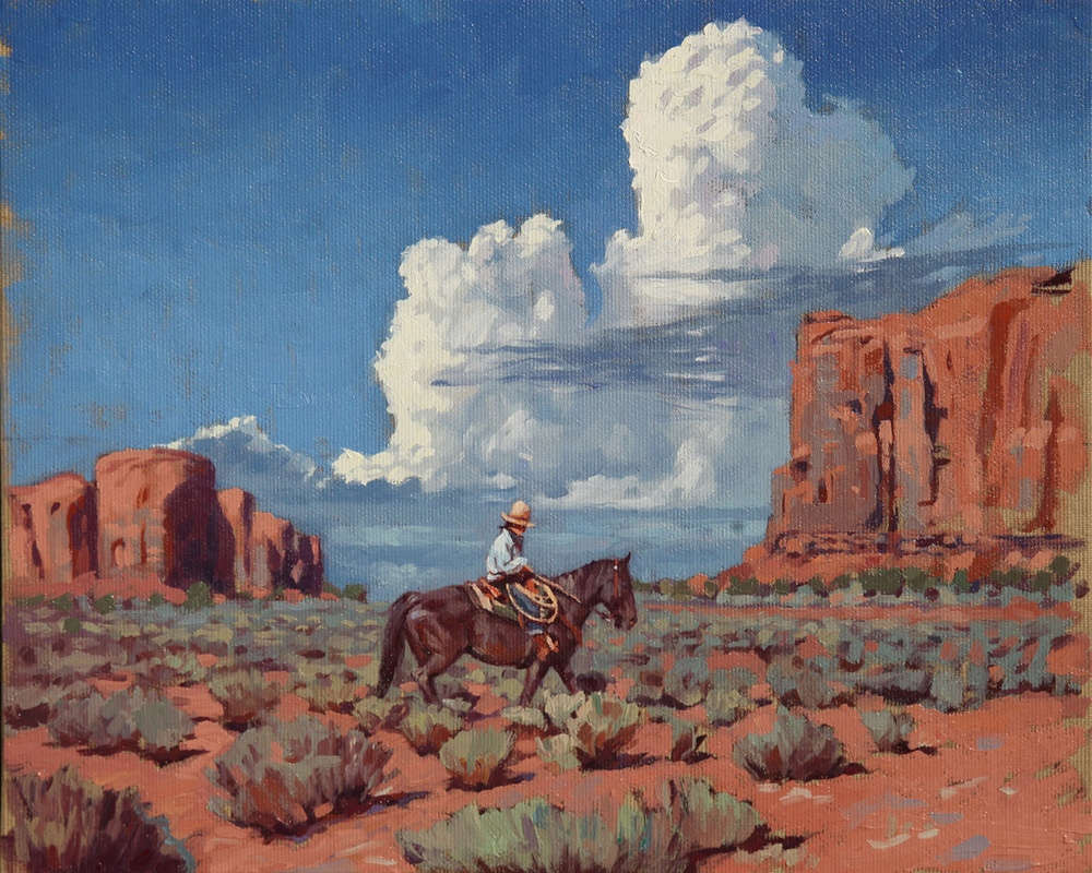"(SOLD) Mark Maggiori ""Johnny on his Horse"" Oil"