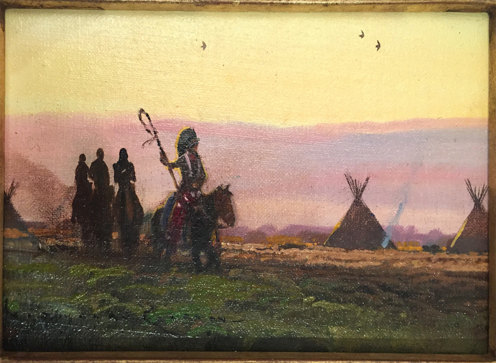 "(SOLD) Nicholas Coleman ""Near the Rosebud"" Oil"