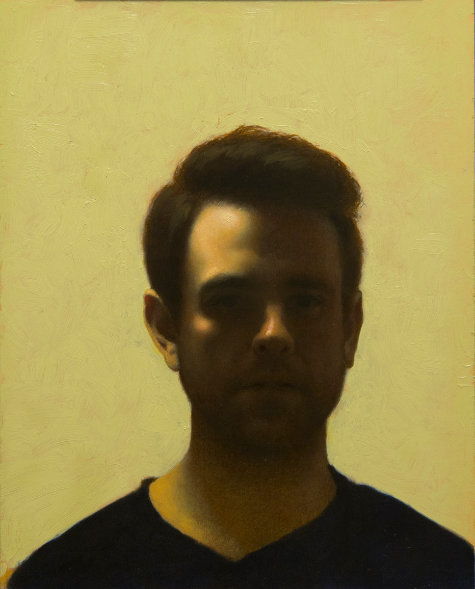 "Ricahrd Morris ""Self-Portrait (Age 38)"" Oil"