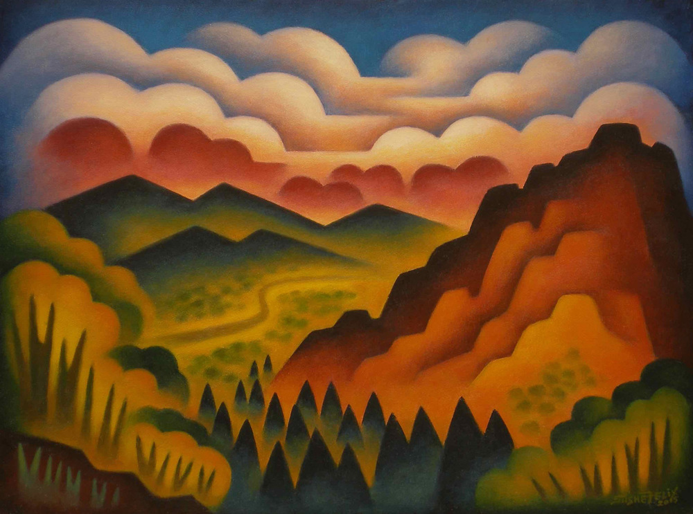 "(SOLD) Sushe Felix ""Redrock Sunset"" Oil"