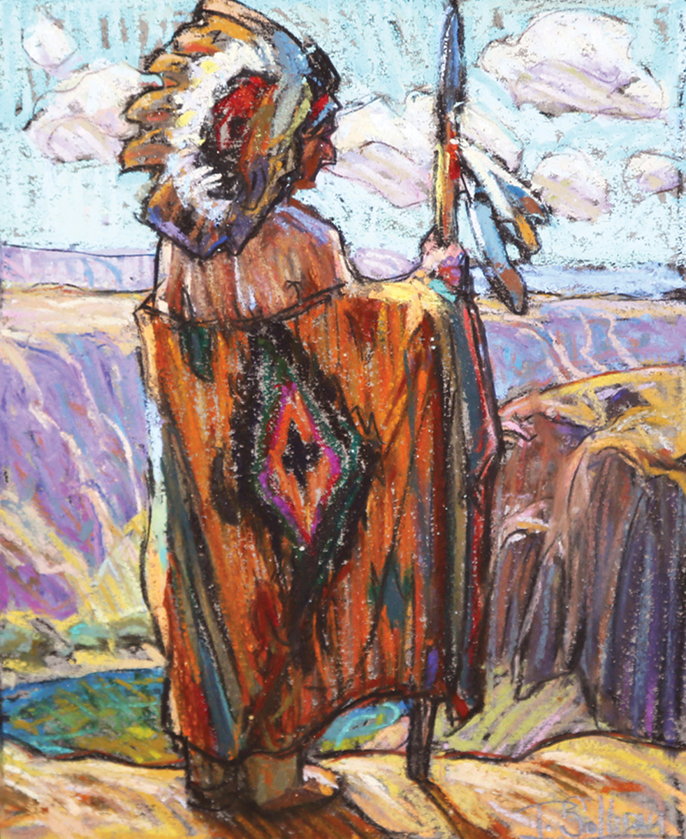 "(SOLD) Tim Solliday ""Chief Overlook"" Pastel"