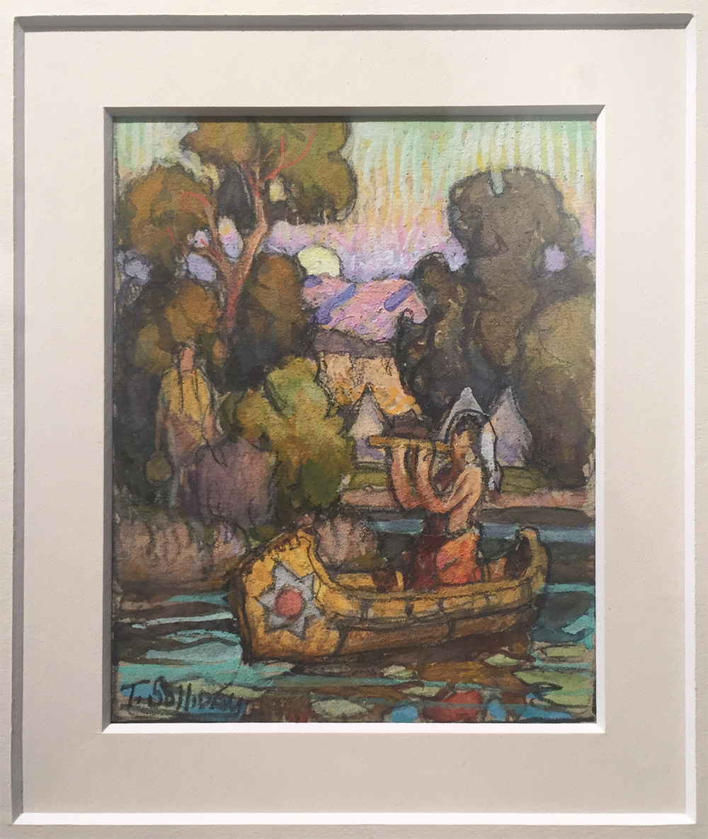 "(SOLD) Tim Solliday ""Indian Love Song"" Pastel"
