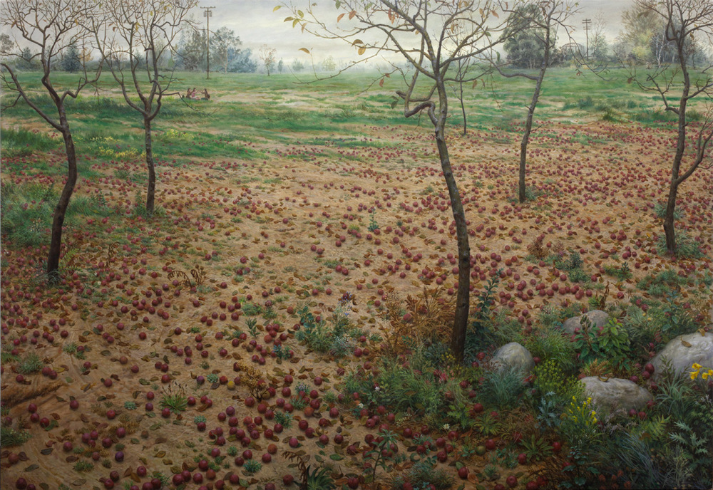 "Aron Wiesenfeld ""The Orchard"" 64″x93"" Oil"