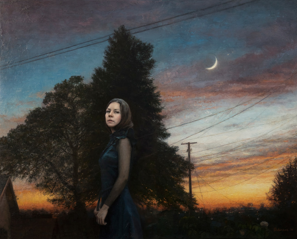 "Candice Bohannon ""Evening Song"" 35″x44″ Oil"