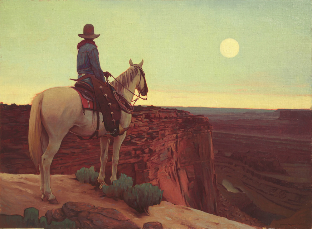 "(SOLD) Mark Maggiori ""Moon Rise on the Table Country"" 22″x30″ Oil"