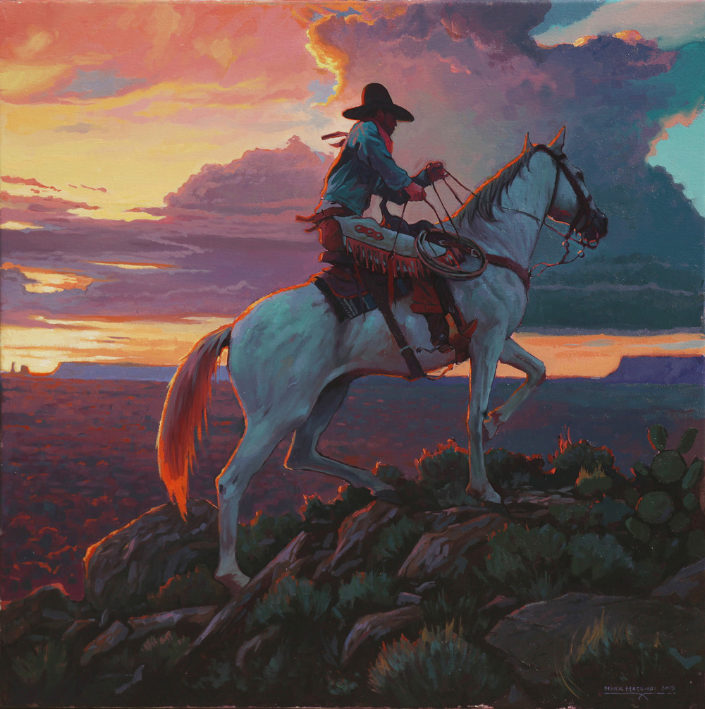 "(SOLD) Mark Maggiori ""Going Home Before Dark"" 24″x24"" Oil"