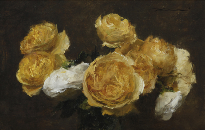 "Michael Klein ""Yellow English Roses"" 8″x12″ Oil"