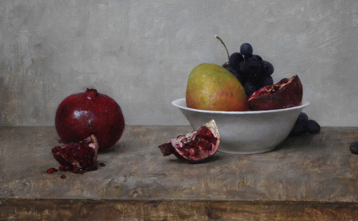 "Michael Klein ""Fruit and Bowl"" 12″x18″ Oil"