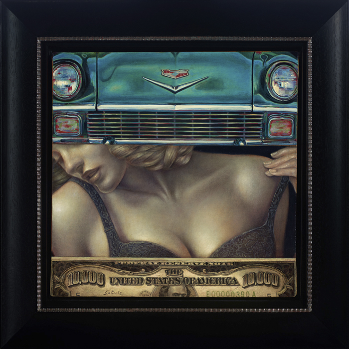 "Danny Galieote ""PieceOfAmericanPie"" 12″x12″ (17″x17″ Framed) Oil"