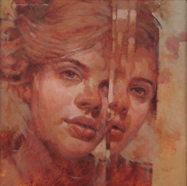 "Joseph Lorusso ""Broken Mirror"" 10″x10″ Oil"