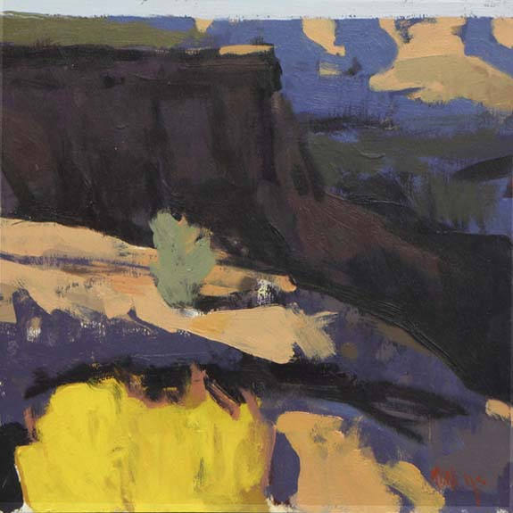 "Mark Daniel Nelson ""Canyonlands #9″ 12″x12"" Oil"