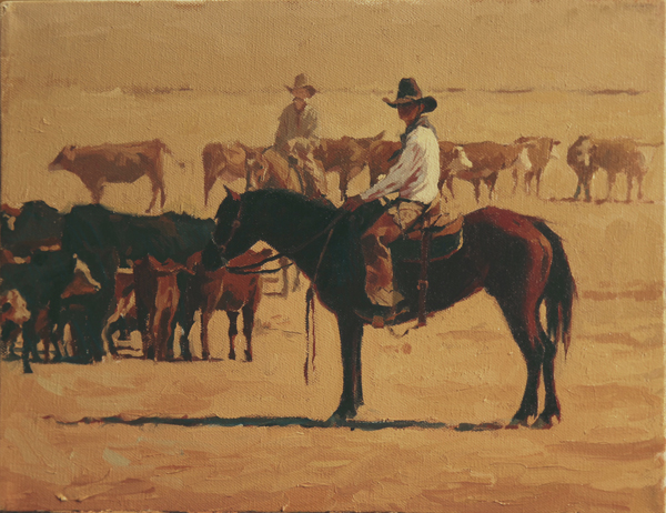 "(SOLD) Mark Maggiori ""In the Dust"" 11″x14″ Oil"