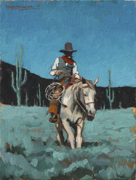 "(SOLD) Mark Maggiori ""Night Ride"" 12″x9″ Oil"