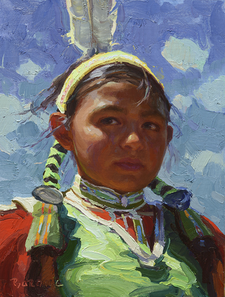 "(SOLD) Scott Burdick ""Sky Child"" 12″x9″ Oil"