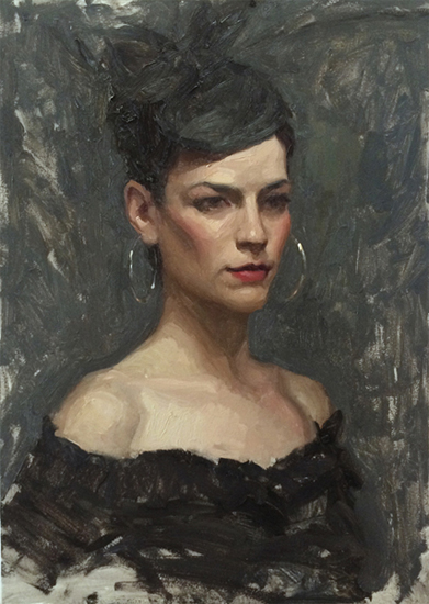"Sean Cheetham ""Lauren"" Oil 14″x11″ Oil"