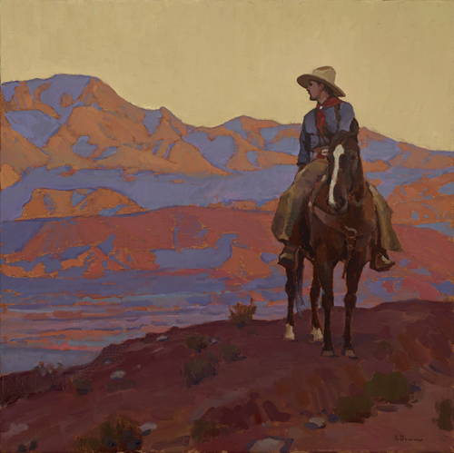 "(SOLD) Glenn Dean ""Bounty of the Desert"" 28″x28″ Oil"