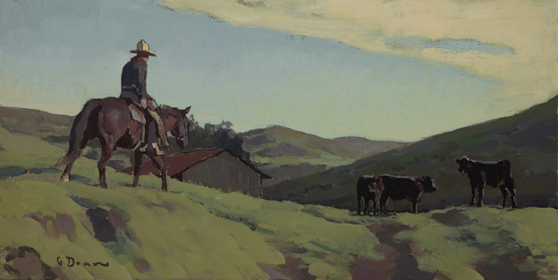 "(SOLD) Glenn Dean ""The Rancher"" 8″x16″ Oil"
