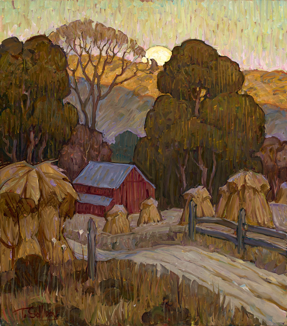 "(SOLD) Tim Solliday ""Harvest Moon"" 18″x16″ Oil"