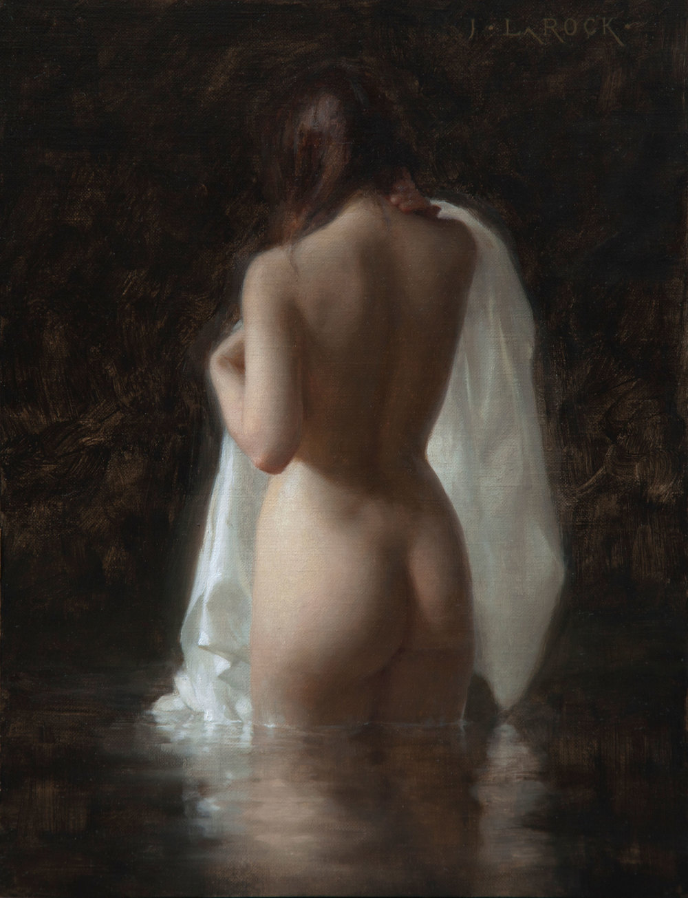 "(SOLD) Joshua LaRock ""Bather II"" 12″x9″ Oil"