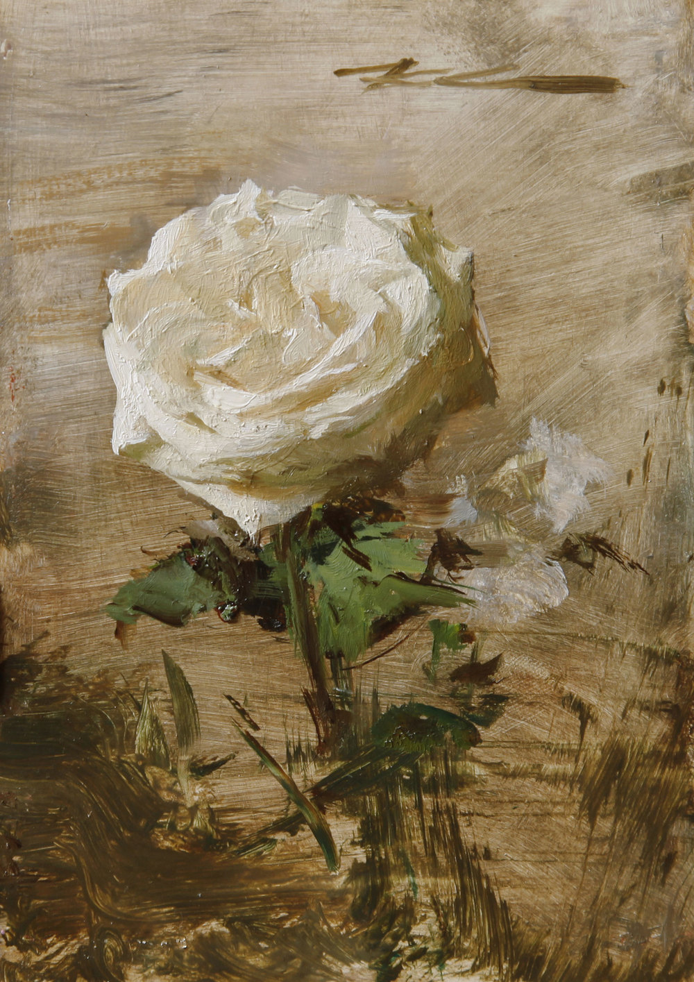"(SOLD) Michael Klein ""Garden Rose"" 6″x4″ Oil"