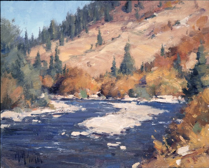 "Matt Smith ""October on the Gunnison"" 8″x10″ Oil"