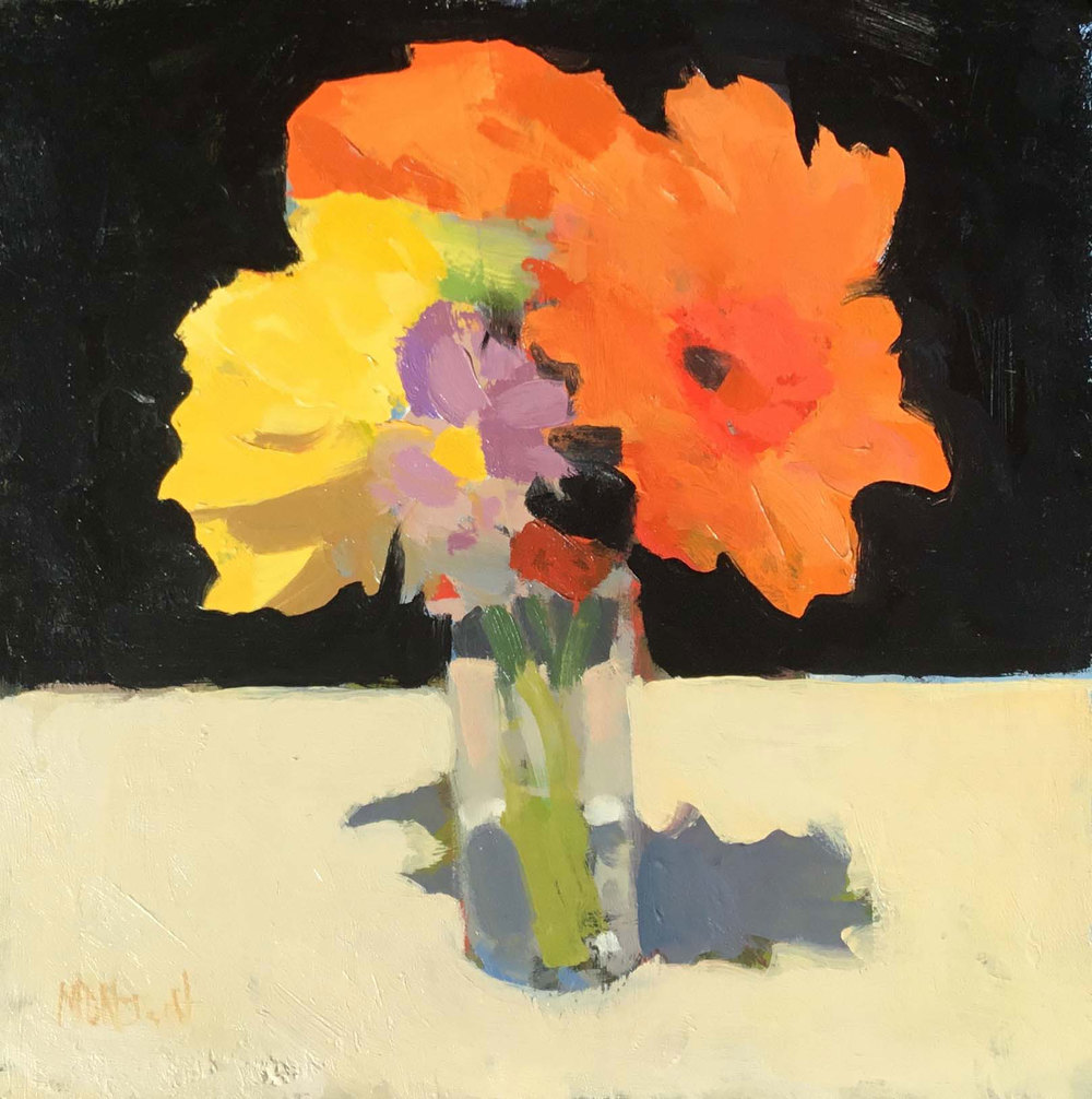 "Mark Daniel Nelson ""Flowers #22"" 10 x 10 Oil"