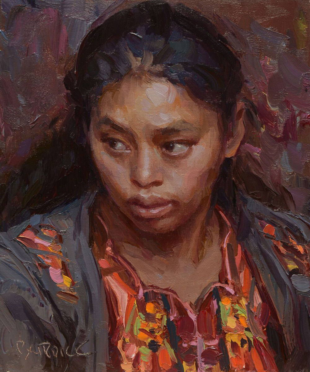 "Scott Burdick ""Guatemalan Portrait"" 10″x8″ Oil"