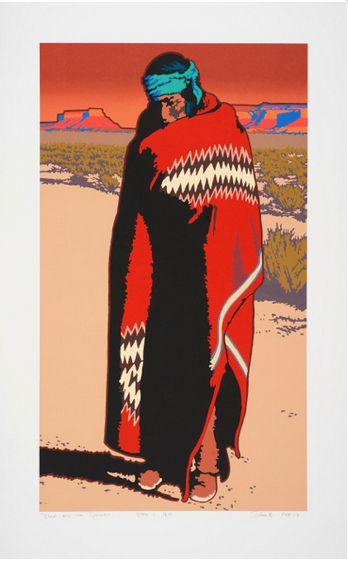 "Billy Schenck ""Deep Into the Desert (State I)"" Serigraph 40″x25″ (Framed)"