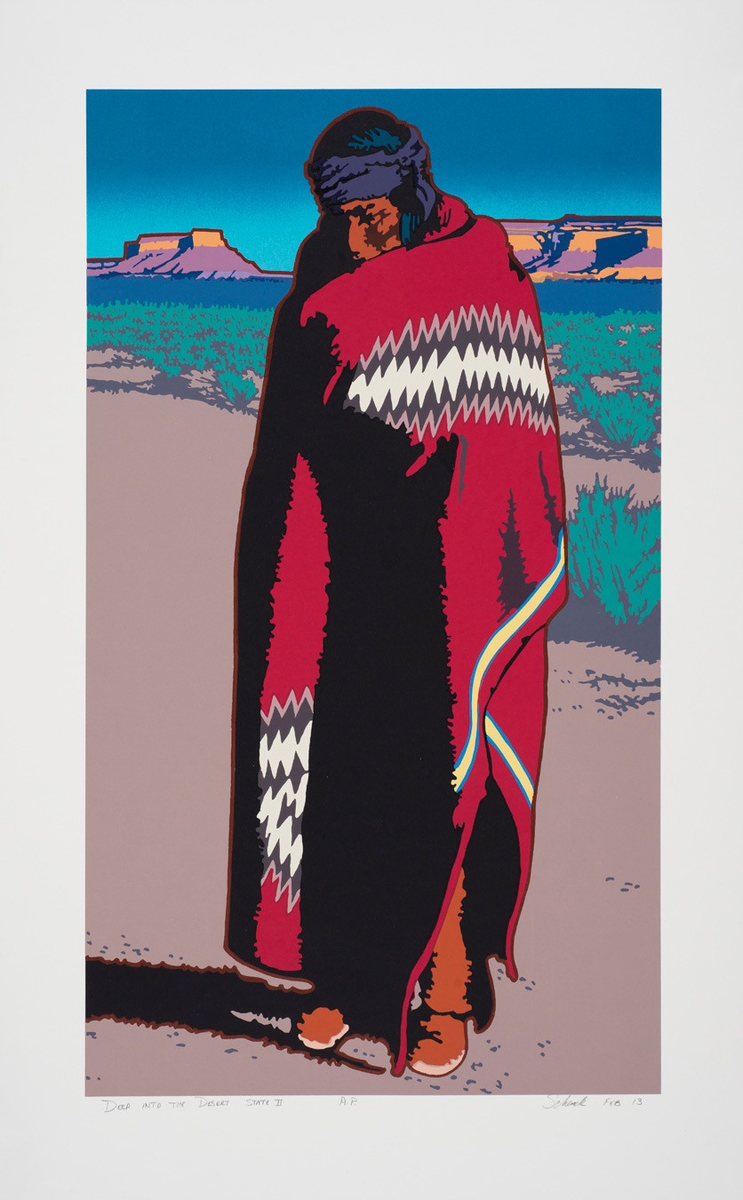 "Billy Schenck ""Deep Into the Desert (State II)"" Serigraph 40″x25″ (Framed)"