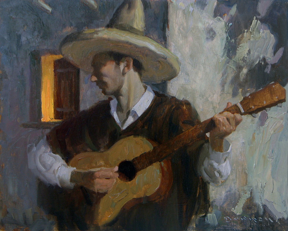 "(SOLD) Eric Bowman ""Serenata"" Oil 8″x10″"
