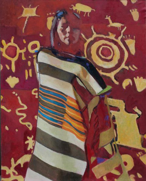 """Ray Roberts """"Navajo Vision"""" Oil 30″x24″"""