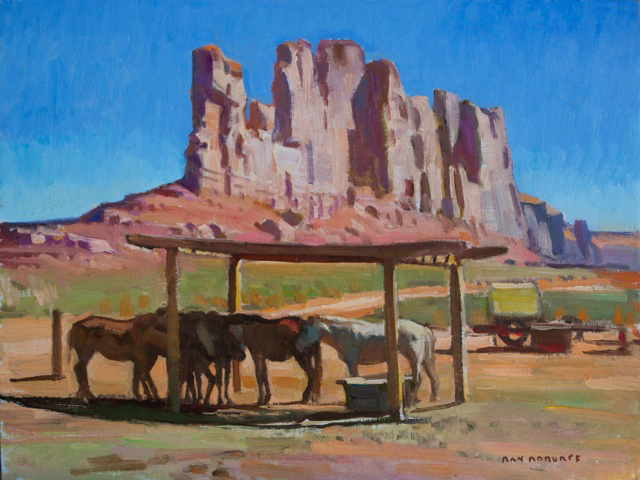 "Ray Roberts ""Monument Valley Shade"" Oil 12″x16″"