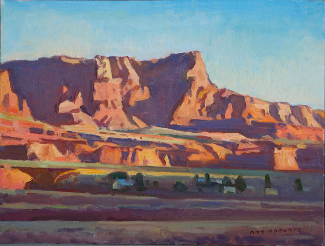 "Ray Roberts ""Sunrise, Vermillion Cliffs"" Oil 12″x16″"