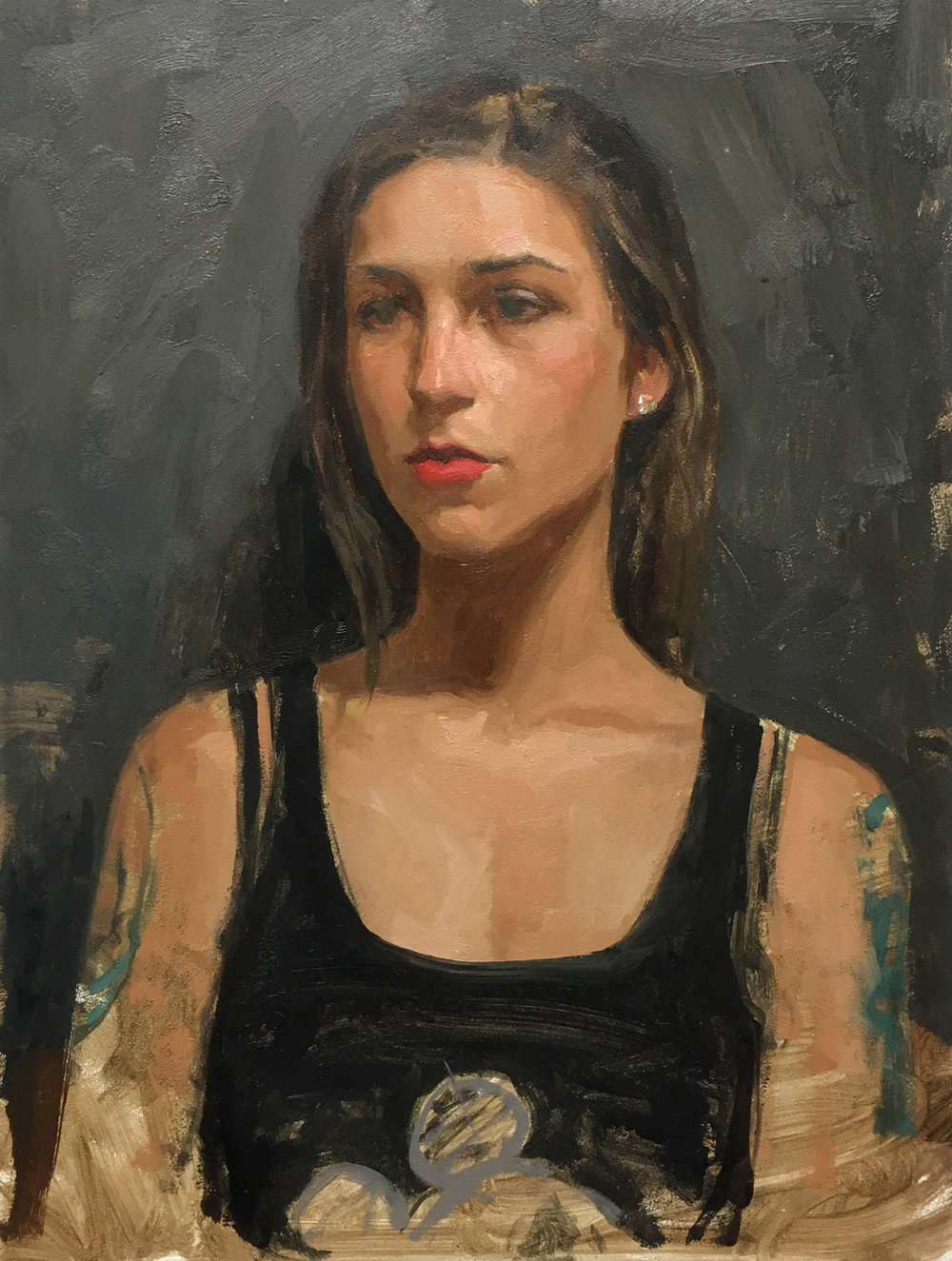 "Sean Cheetham ""Beatrice 2"" Oil 12""x9"" (Unframed)"