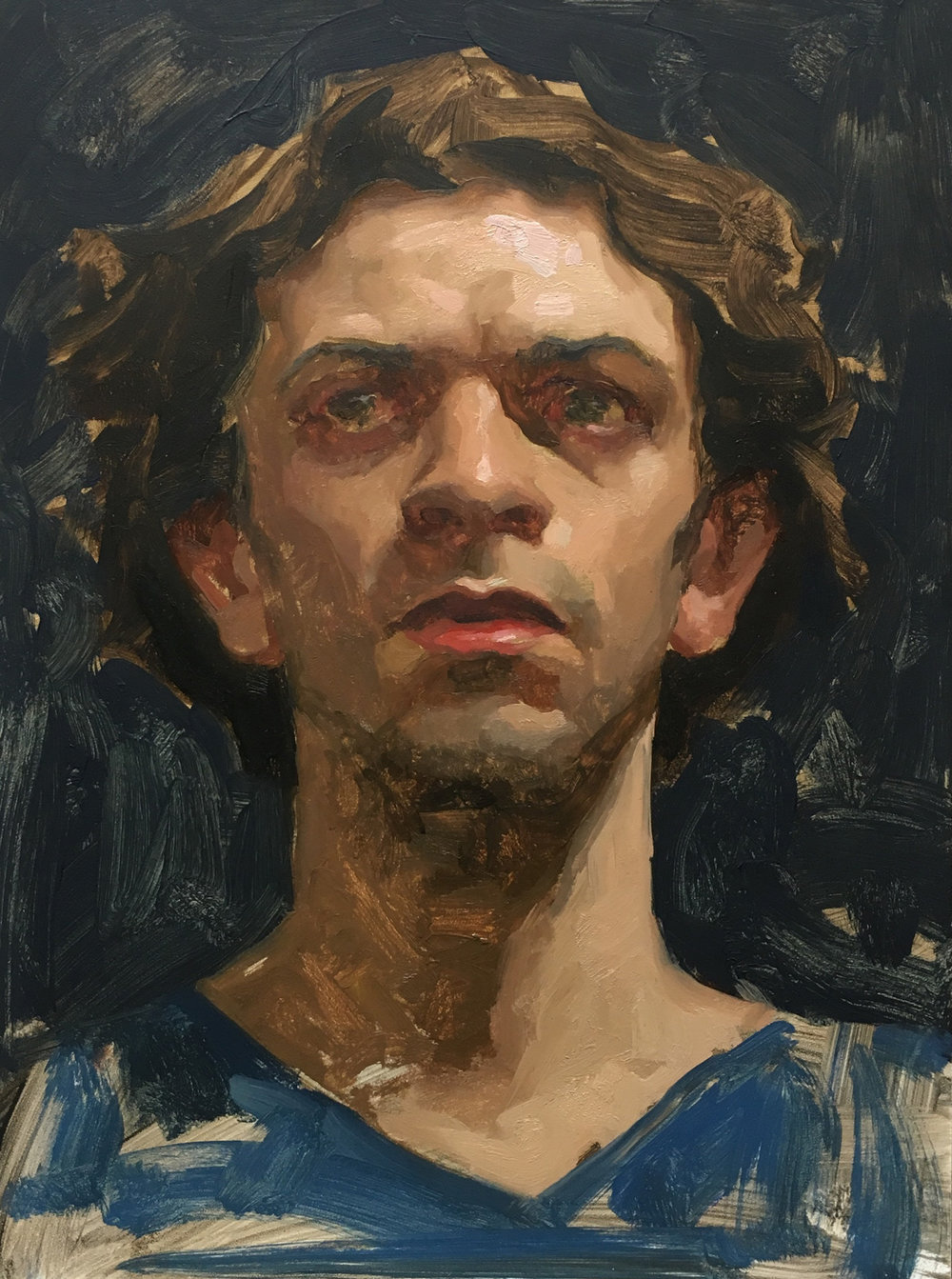 "Sean Cheetham ""Enrico 1"" Oil 12""x9"" (Unframed)"