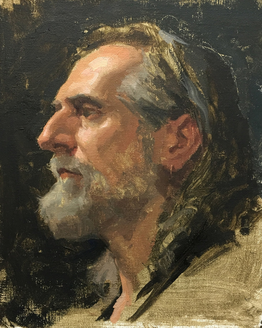 "Sean Cheetham ""Roberto 2"" Oil 10""x8"" (Framed)"