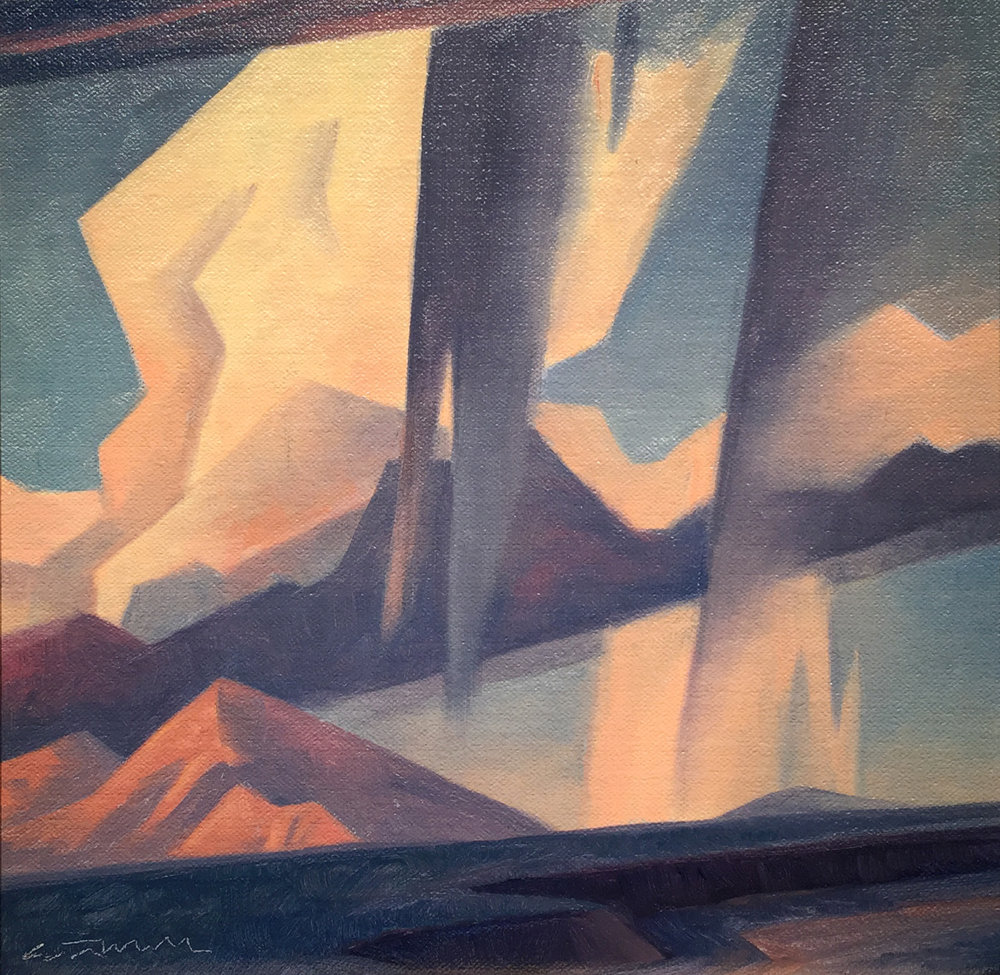 "(SOLD) Ed Mell ""Cumulus Clouds"" 10""x10"" Oil"
